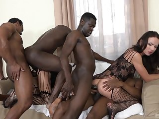 Running anal gang bang be fitting of two amateur babes heavens fire